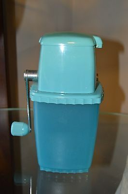 Vintage 1950's Turquoise Manual Ice Crusher MAde in France Mid Century