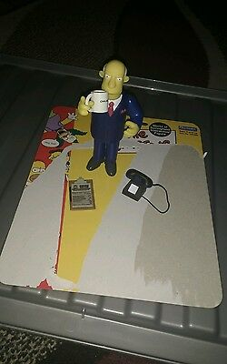 The Simpsons Interactive Action Figure Superintendent Chalmers vgc complete Rare