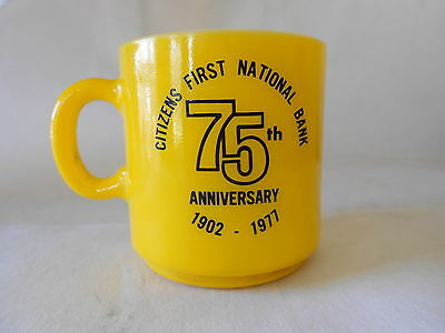 VTG Storm Lake Iowa 1977 75th anniv Citizens first national Bank Coffee cup Mug