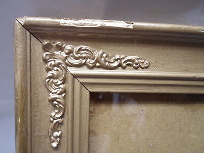 Victorian frame , metal corners, 6 by 8 inches, nice  # 264