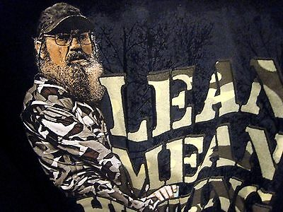 """Si """"Lean Mean Hunting Machine""""Duck Dynasty Graphic  Sweatshirt   Size Large"""