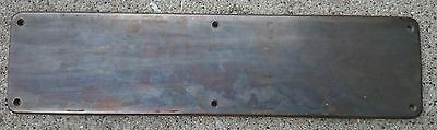 "YALE GT 1730 Antique Cast Brass Door Plate 16"" x 4"""