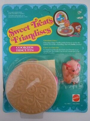 "1978 Sweet Treats Friandises ""chololate Claire"" Kiddle Cookies Biscuits Mattel"