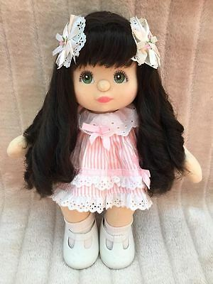 My Child Doll Brunette Midpart Green Charcoal