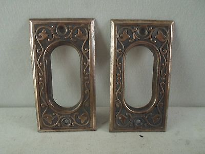 antique Victorian Eastlake pocket sliding door handles or pulls