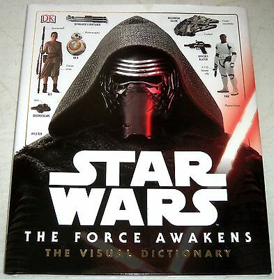 Star Wars: The Force Awakens Visual Dictionary Illustrated 2016 FREE SHIPPING