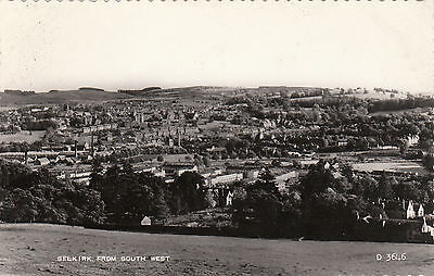 View From South West, SELKIRK, Selkirkshire RP