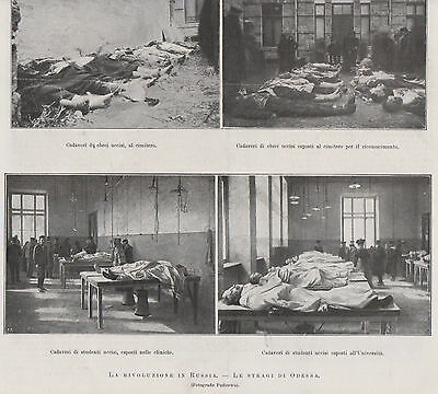 Old Odessa. Illustrated Magazin. Victim of Jewish Pogrom in 1905