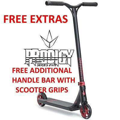 2017 ENVY Prodigy S5 Complete Scooter BLACK/RED + FREE SCOOTER BARS & GRIPS