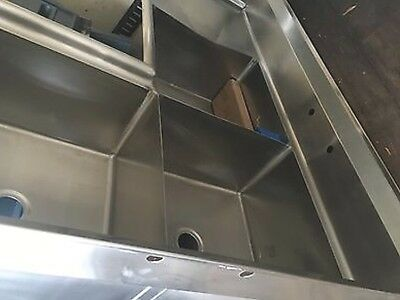 Commercial Corner Sink , Three 3 Compartment