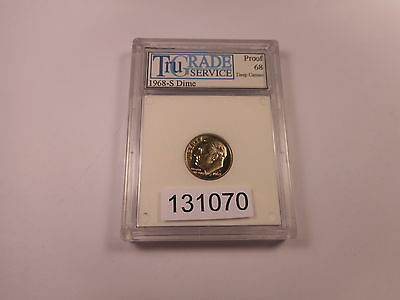 Slabbed + Graded Coins   $10 Uncirculated 1968 S Proof Roosevelt Dime - # 131070
