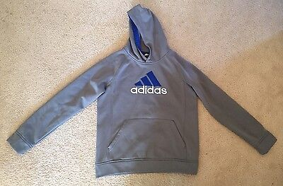 Boys Adidas Gray Pullover Hoodie Size XL 18