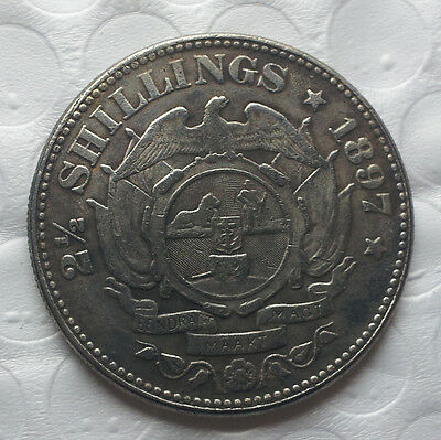 1897 South Africa 2 1/2 Shillings Paul Kruger Remembrance Coin