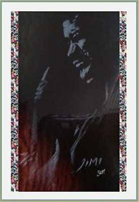 Fridge Magnet, Music Jimi Hendrix 7x4.5cm New Bespoked