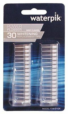 Waterpik Dental Power Flosser Whitening Replacement Tips, Mint Flavored