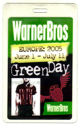 Green Day- American Idiot - Real Authentic Tour Backstage Pass