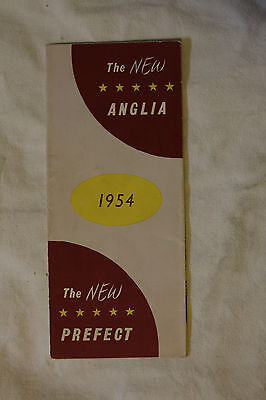 The new FORD ANGLIA 1954 sales brochure - Canadian market catalog