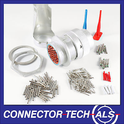Deutsch HD30 47-way Connector Complete Kit Panel Bulkhead Firewall #HD30-47-TR