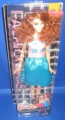 Barbie Collector  Fashionistas Tall Barbie Doll #29 Terrific Teal, New