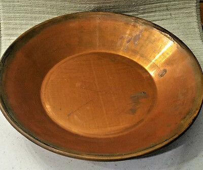 """Hudson Bay Limited Herters Waseca, Minn - Hand Made Copper Gold Panning Pan 14"""""""