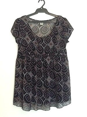 BUB2B Maternity Top With Camesole Size M