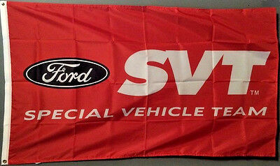 SVT FORD RACING MUSTANG COBRA SPECIAL VEHICLE TEAM BANNER FLAG 3X5 advertising