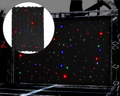 2 Pack LED Star Cloth 3x2m DMX 512 Sound Control LED Stage SHOW Screen Backdrop