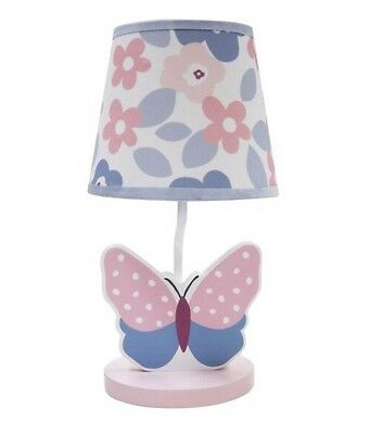 Bedtime Originals by Lambs & Ivy  Butterfly Meadow Lamp & Shade New