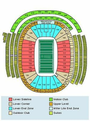 Green Bay Packers vs Seattle Seahawks 12/11/16 1st Row end zone 2 tickets