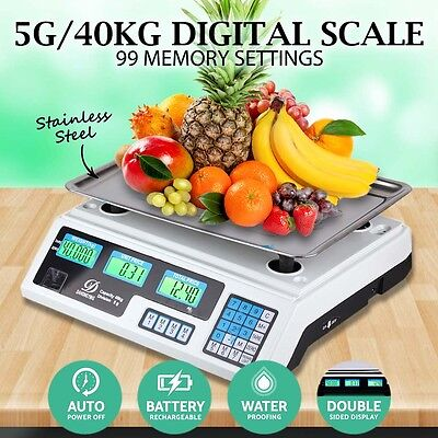 Digital Kitchen Postal Business Scale Electronic Price Computing Weight 40kg AU
