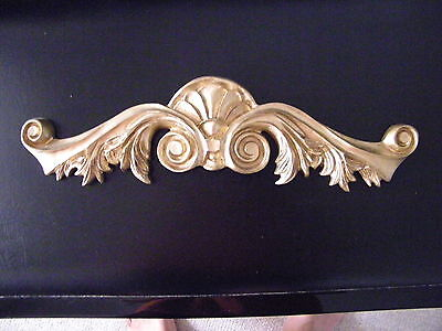 Wall Topper Over- Door Ornamental Architectural Acanthus Leaves Gold Pediment