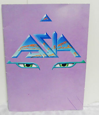 ASIA Concert Program Booklet 1983 Alpha Tour + Local Newspaper Clipping GUC