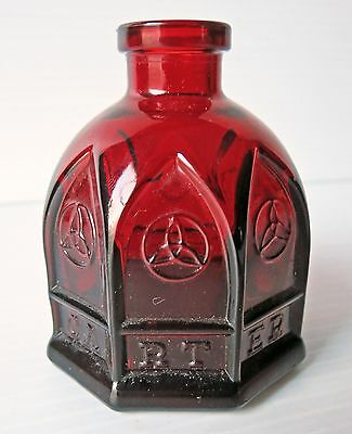 Carters Ruby Red Cathedral Ink Bottle