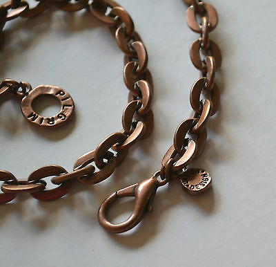 SIGNED PILGRIM SKANDERBORG DANISH DESIGN COPPER Necklace CHUNKY CURBED CHAIN