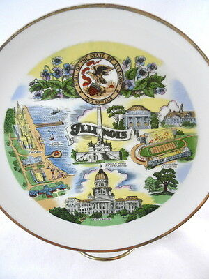 ILLINOIS Collector Souvenir Decorative Plate Wall Hanging