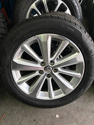 """4X Toyota Kluger Grande Genuine 19"""" Wheels And Tyres As New"""