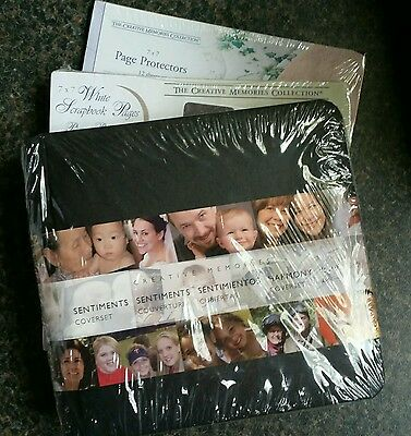 Creative Memories 7x7 Black Coverset plus Pages and Protectors