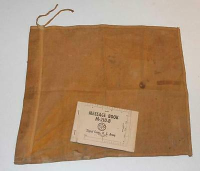 Authentic World War ll US Army Signal Corps Flag MC 274 & Message Book 1944