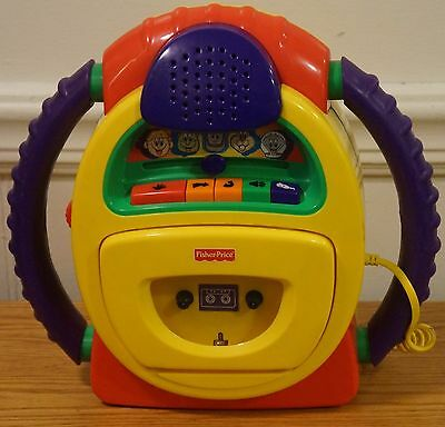 Fisher Price Tuff Stuff Cassette Player Sing Along Voice Changer Recorder WORKS
