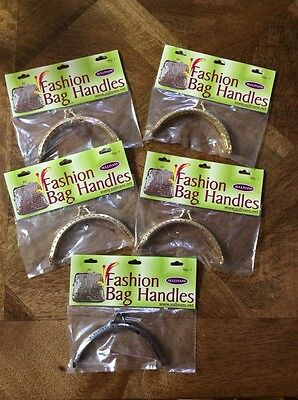 Sewing Coin Purse Handle Metal Frame Clasp Bulk of 5