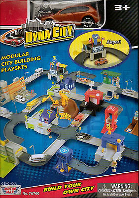 Motormax Dyna City Airport With Hatchback New In Box