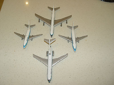 Aero Mini Collector models lot of 4  Boeing 707, 727, 2 x 737 Pan Am United