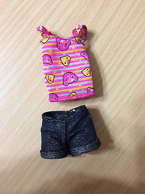 Barbie Sister Fun Prize Stacie Doll's Outfit Top Sparkling Shorts