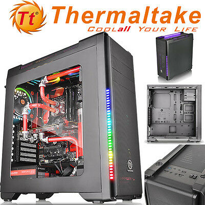 Thermaltake Versa C21 RGB USB 3.0 Mid Tower Side Window Panel Computer PC Case