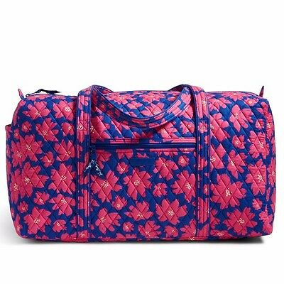 New With Tags Vera Bradley Large Duffel Travel Bag Art Poppies