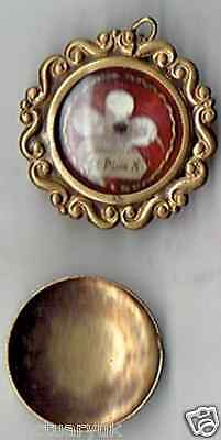 St Pius X 1th Class Relic Locket + Copy of Authentic + 6 Relic Cards as Shown