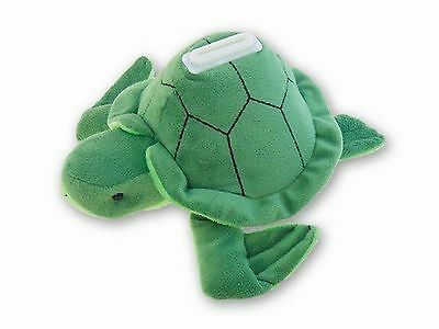 "Sea Turtle Plush Huggie Piggy Bank Measures 8.5"" x 5"" x 4"" by Puzzled  # 5931"