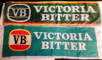Cotton Bar Towels VB. Victoria Bitter. x 2.(Used)