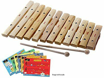 DLuca 12 Notes Wood Xylophone with Music Cards