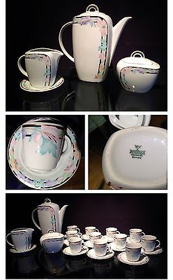 COFFE SET- JUEGO CAFE China Mitterteich Bavaria.11 Cups&saucers 11 Tazas Perfect
